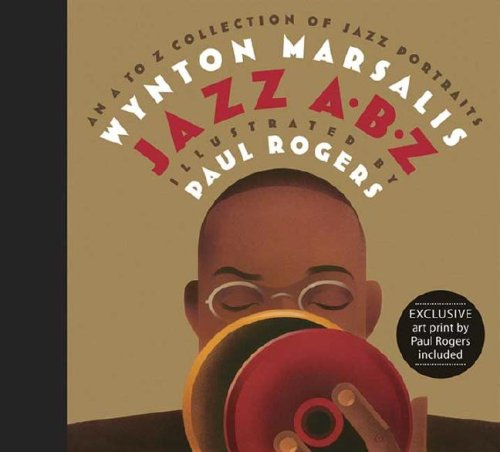 9780763634346: Jazz A-B-Z: An A to Z Collection of Jazz Portraits with Art Print
