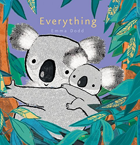 Everything 9780763671280 What does a mother love most about her baby? Everything. Parents love each and every thing about their child, as demonstrated by the charming mother and baby koala in Emma Dodd's Everything. Featuring heartwarming illustrations embellished with foil, this cozy bedtime read is a handsome addition to any nursery bookshelf.