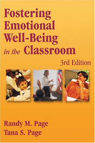 9780763700553: Fostering Emotional Well-Being in the Classroom, Third Edition