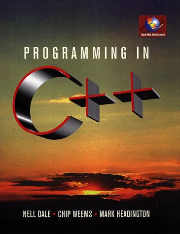 9780763705374: Programming in C++ (Jones and Bartlett Series in Computer Science)