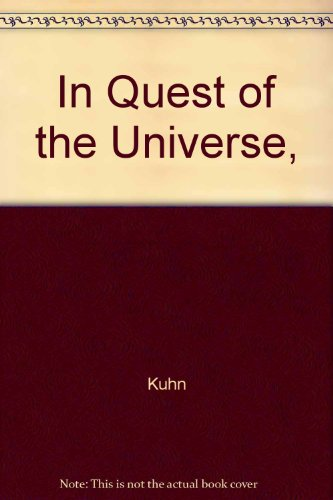 9780763706975: In Quest of the Universe,