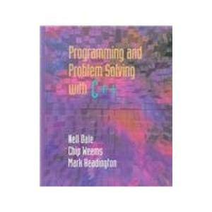 9780763708122: Programming and Problem Solving With C++