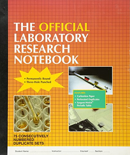 9780763709044: The Official Laboratory Research Notebook