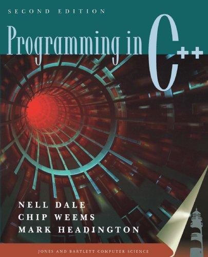 9780763714246: Programming in C++ 2e