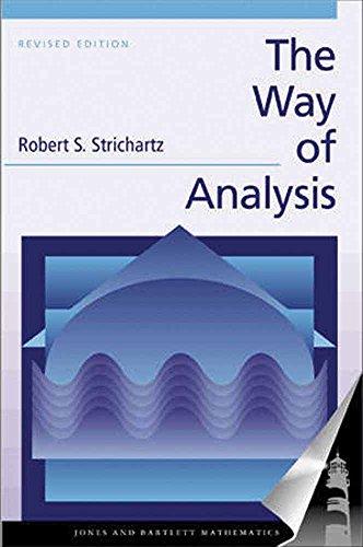 9780763714970: The Way of Analysis