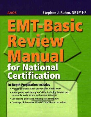 9780763718299: EMT-Basic Review Manual for National Certification