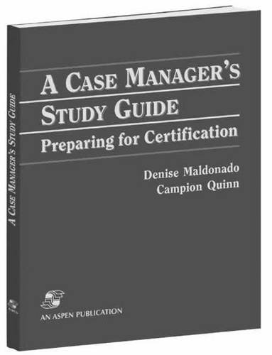 9780763725044: A Case Manager's Study Guide: Preparing for Certification