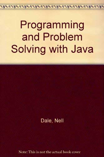 9780763725877: Programming and Problem Solving with Java
