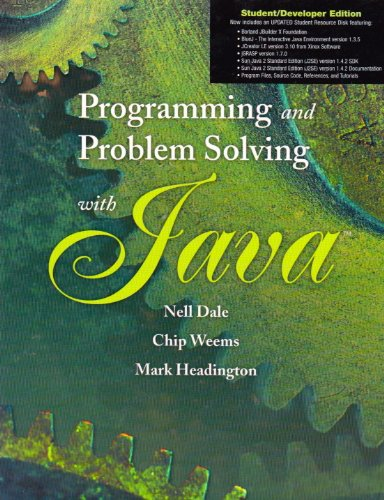 9780763727208: Programming And Prob Solving W/ Java