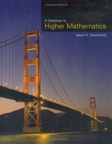 9780763727338: A Gateway to Higher Mathematics