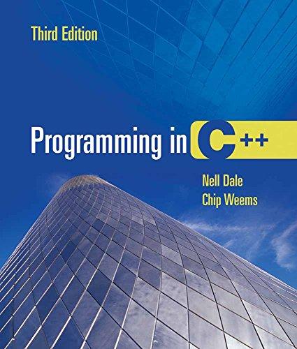 9780763732349: Programming in C++ 3e