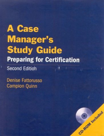 9780763732998: A Case Manager's Study Guide, Second Edition: Preparing for Certification