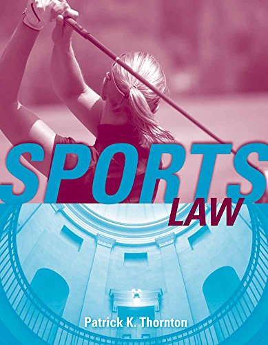 Sports Law 9780763736507 Sports Law looks at major court cases, statutes, and regulations that explore a variety of legal issues in the sports industry. The early chapters provide an overview of sports law in general terms and explore its impact on race, politics, religion, and everyday affairs. Later chapters address hot button issues such as gender equity, drug testing, and discrimination. Written from a sport management perspective, rather than from a lawyer's, this text covers all the major areas presented in sports law today including: cases relating to torts, contracts, intellectual property, and agents. Factual scenarios throughout the text allow students to critically examine and apply sport management principles to legal issues facing the sports executive.
