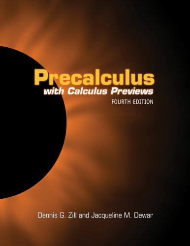 9780763737795: Precalculus With Calculus Previews