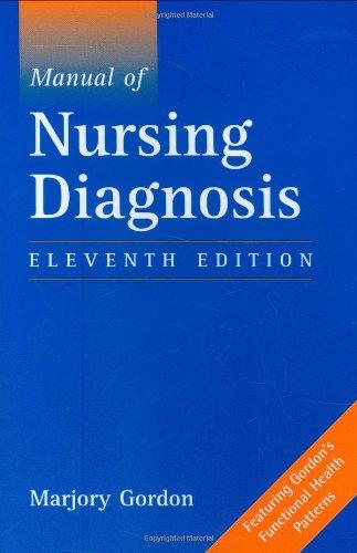 9780763740450: Manual of Nursing Diagnosis