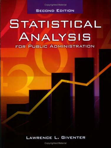 Statistical Analysis in Public Administration: Lawrence L. Giventer