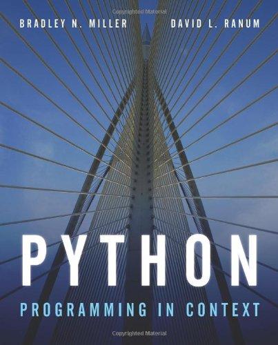 Python Programming In Context: Miller, Bradley N.,