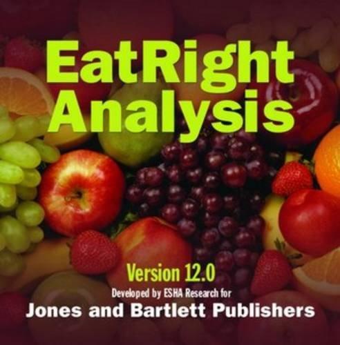 9780763746858: ESHA Eatright Analysis, Version 12.0