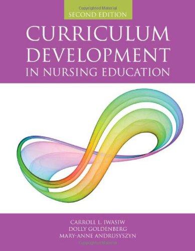 9780763755959: Curriculum Development In Nursing Education