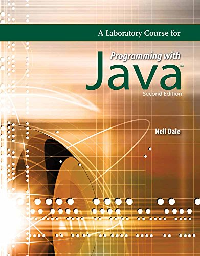 9780763758271: A Laboratory Course for Programming with Java