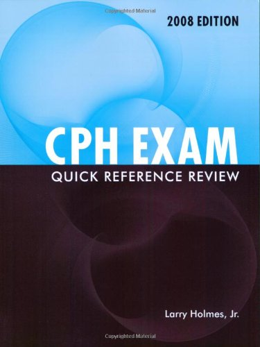 9780763761295: CPH Exam Quick Reference Review