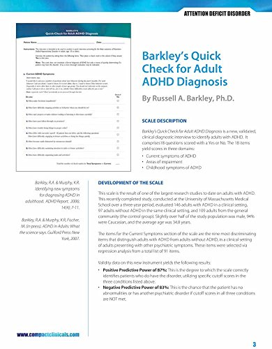 9780763763053: Barkley's Quick Check For Adult ADHD Diagnosis