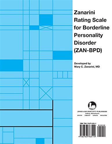 9780763763114: Zanarini Rating Scale for Borderline Personality Disorder (ZAN-BPD)