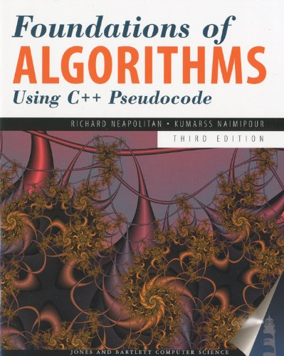 9780763763541: Foundations of Algorithms Using C++ Pseudocode