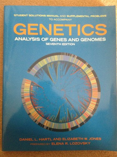 9780763765781: Students Solution Manual for Genetics: Analysis of Genes and Genome, 7th Edition