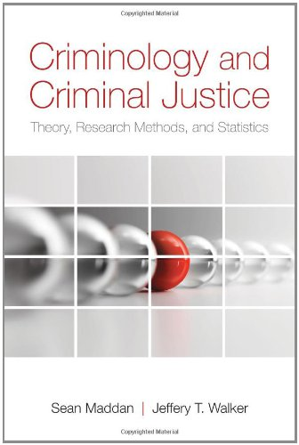 9780763771393: Criminology and Criminal Justice: Theory Research Methods and Statistics