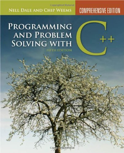9780763771560: Programming And Problem Solving With C++