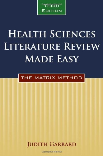 9780763771867: Health Sciences Literature Review Made Easy: The Matrix Method