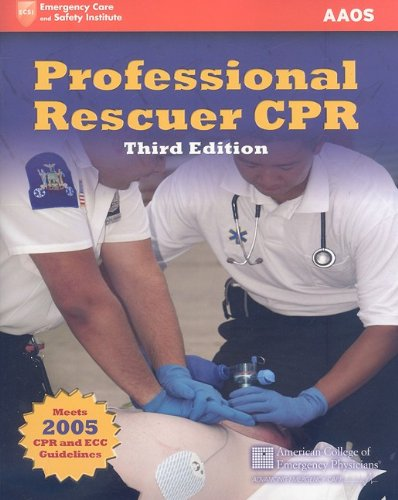 9780763772994: Professional Rescuer CPR (Emergency Care and Safety Insitute)