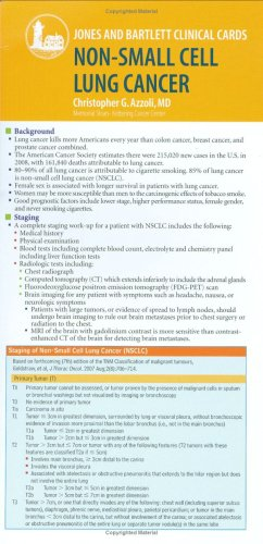 9780763774455: J & B Clinical Card: Non-Small Cell Lung Cancer (Jones and Bartlett Clinical Cards)
