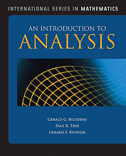 9780763774929: An Introduction to Analysis (International Series in Mathematics)