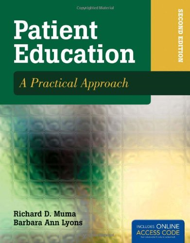 9780763777104: Patient Education: A Practical Approach