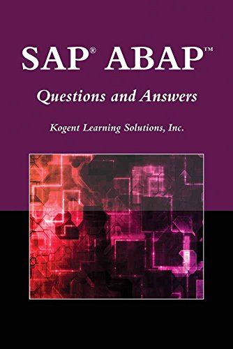 SAP® ABAP(TM) Questions And Answers (Jones and: Kogent Learning Solutions,