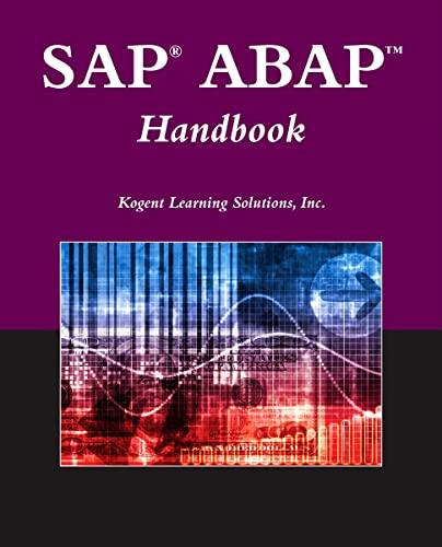 9780763781071: SAP ABAP Handbook