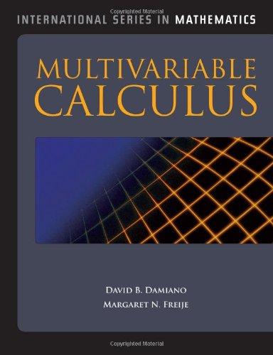 9780763782474: Multivariable Calculus (International Series in Mathematics)