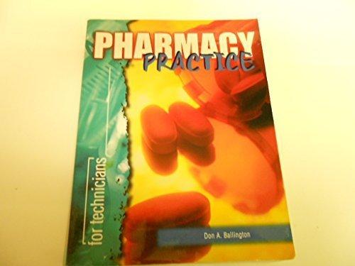 9780763800994: Pharmacy Practice for Technicians