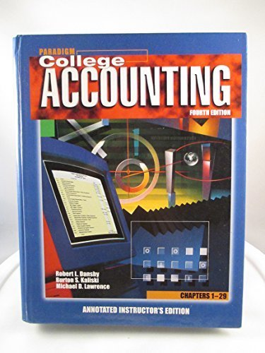 College Accounting: Robert L. Dansby,