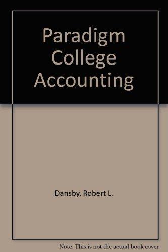 9780763801632: Paradigm College Accounting