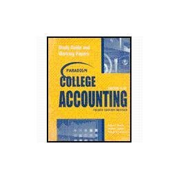 Paradigm College Accounting Chapters 19-26 (Chapters 19-29): Robert L Dansby;