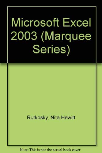 9780763820732: Microsoft Excel 2003 (Marquee Series)