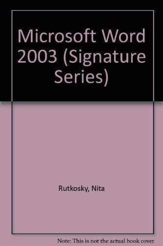 Microsoft Word 2003: Rutkosky, Nita Hewitt