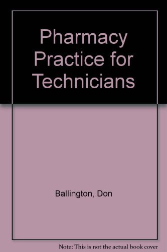 9780763822262: Pharmacy Practice for Technicians