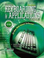 9780763823085: Paradigm Keyboarding and Applications: Sessions 1-60- Text Only