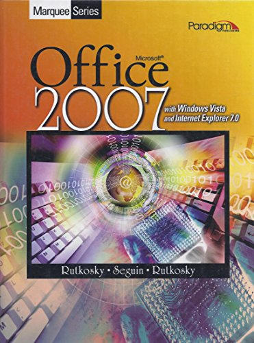 9780763833541: Marquee Series: Microsoft Office 2007 with Windows Vista and Internet Explorer 7.0