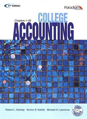 9780763834968: College Accounting: Student Courseware Text Chapters 1-28 with Study Partner
