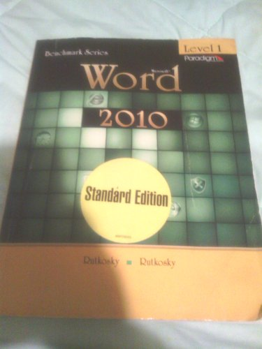9780763838171: Word 2010 (Benchmark Series)